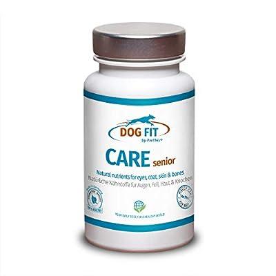 DOG FIT by PreThis® Care Senior | Aufbaupräparat für alte Hunde | Unterstützung für Gelenke, Augen, Fell, Haut, Zähne & Stoffwechsel | Senior Futterergänzung