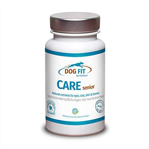DOG FIT by PreThis® Care Senior | Aufbaupräparat für alte Hunde | 100{9987539bfcacc031470cdd9ca23c1d377b297641509515c52cce23c59dfb0910} Natur | Unterstützt Gelenke, Augen, Fell, Haut, Zähne & Stoffwechsel | Senior Futterergänzung