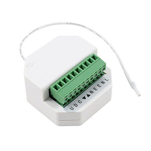 3T-MOTORS Funk-Empfänger UPE1, ermöglicht Rolladenmotor Steuerung per Funk mit Fernbedienung und Taster, Unterputz-Einbau, Rollladenmotor Steuerung, Funksteuerung, Rolladenmotor-Zubehör