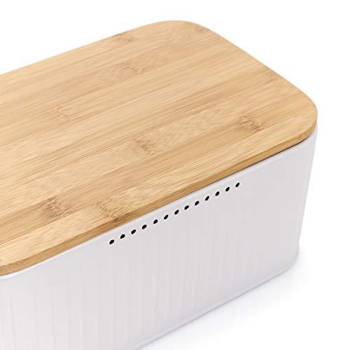 Zeller bread bin with bamboo lid - pink
