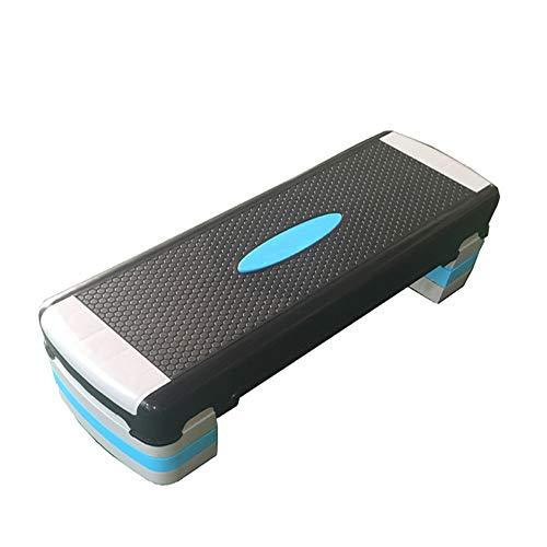 PQXOER Steppbrett 90cm Länge Erwachsene Übung Stepper Board 3 Level Aerobic Höhenverstellbar von 15cm bis 25 cm for Fitnessstudio Fitness Aerobic Stepbench (Color : Black, Size : 90cm)