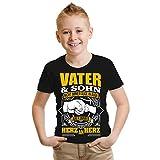 Kinder T-Shirt Vater & Sohn Größe 86-164