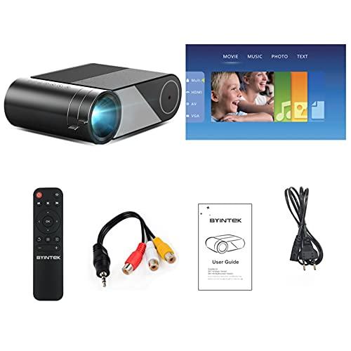 RSBCSHI Mini Portable Video Beamer LED Projector Proyector For 1080P 3D 4K Cinema (Color : Basic Version)