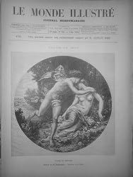 MI 1875 ARTISTE ARTS PEINTURE FLORE ZEPHIRE TABLEAU BOUGUEREAU Journal – 1875