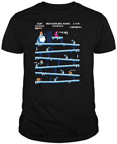 The Fan Tee Camiseta de Hombre Hora de Aventuras Jake Finn Donkey Kong XL