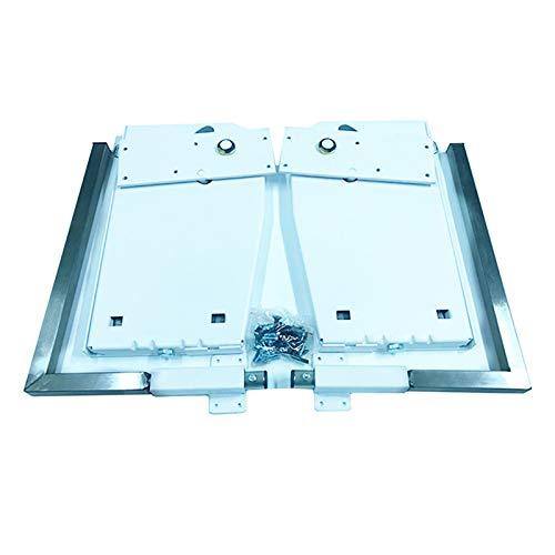 NECZXW1 DIY Murphy wall bed spring mechanism hardware kit, vertical wall bed installation, 9 high-grade household springs, loft, modern hotel, etc, white