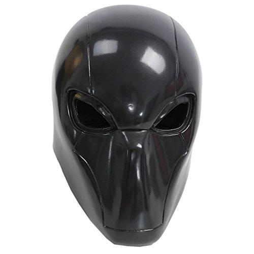 Xcoser Red Hood Mask PVC Helmet Black Deluxe Adult Halloween Party Masquerade