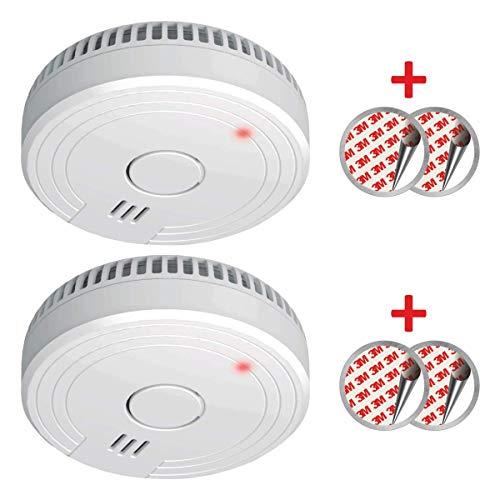 ELRO FS1805 FS1805-2-Pack Detector de Humo con Magnético Adhesivas Kit-5 años y garantía de batería-DIN EN14604-2 Unidades-Color, Blanco, Set de 2 Piezas
