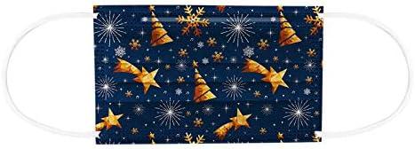 goodjinHH 5x10 stuks Kerst Wegwerp Mondmasker voor Volwassenen   3 laags Disposable Stofdicht Ademend kerstdag...