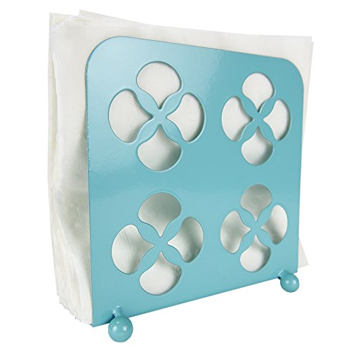 Home Basics Trinity Collection Pantryware Organization Set, Turquoise (Napkin Holder)
