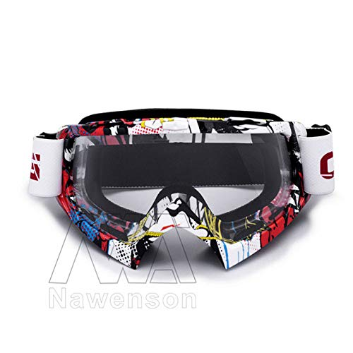 MENGCI Goggles Anti-Uv Stripe Motorbril bril Ski Cross Land Flexibele Dirt Bike Goggles | Motorbril