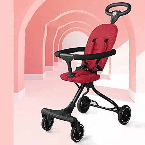 ZCZZ Passeggino 360 Funzione di Rotazione, Passeggino Carrozzina Hot Mom (Colore : Rosso)