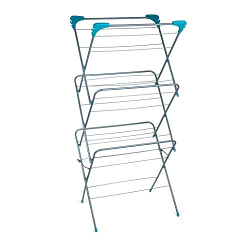 Beldray Elegant 3 Tier Clothes Airer Drying Space, Steel, Turquoise, 64 x 45 x 138 cm