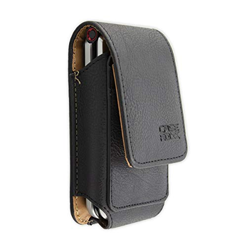 caseroxx Ledertasche mit Gürtelschlaufe für Emporia TOUCHsmart V188, Tasche (Ledertasche mit Gürtelschlaufe in schwarz)