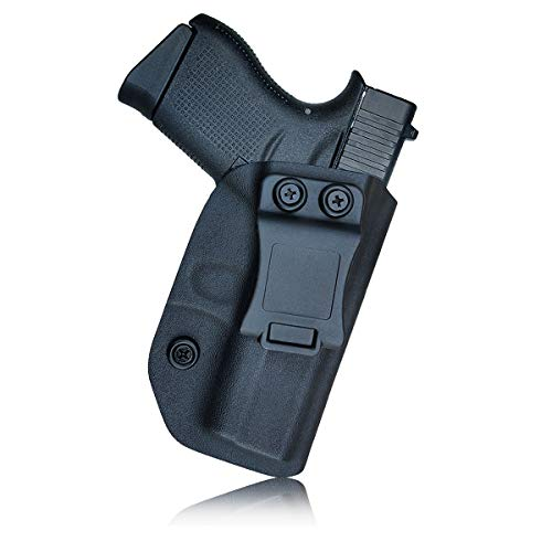 Glock 43 Holster, Glock 43X Holster, Kydex IWB Holster For Glock 43 / Glock 43X Pistol Case Concealed Carry, Inside Waistband Carry Concealed Holster Glock 43 43X Guns Accessories Pouch - Right Hand