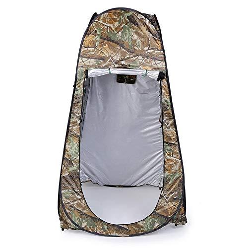 weichuang Außenzelt Außen Umzug Dusche Toilette Tent Privatsphäre ändern Bad Shelter Anproberaum Wasserdicht Pop Up-Zelt mit Tasche Camouflage Zelt
