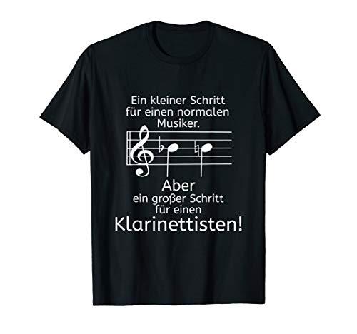 Klarinettisten großer Schritt Klarinette Orchester Design T-Shirt