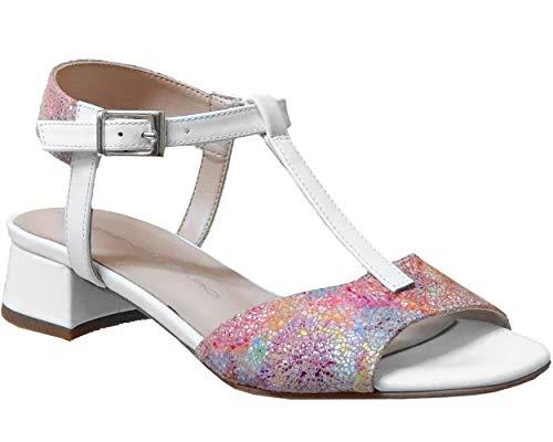 Brenda Zaro, F3699 Damen Nu-Pied, Mehrfarbig, 2 Materialien, Mehrfarbig - Weiß Multi Blanco Msj208 - Größe: 37 EU