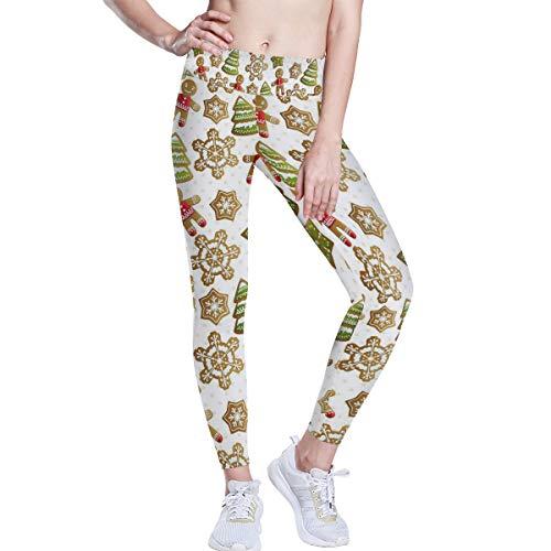 Montoj Yoga-Leggings mit Weihnachtsmuster, hohe Taille, Bauchkontrolle, Workout-Hose für Frauen, 4-Wege-Stretch-Yoga-Leggings XS 1