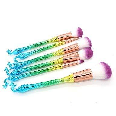 HUAZJ 6-Pack Foundation Brush Poudre Brush Brush Lip Brush Fard à paupières Brush Makeup Brush Set débutant Pratique Synthetic Hair Nylon Full Coverage ABS Face