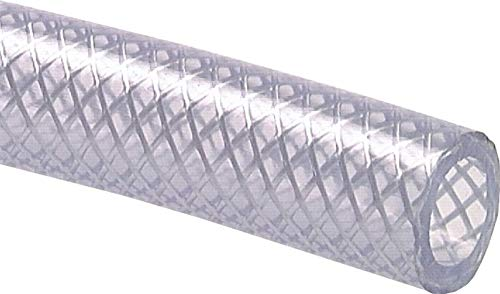 PVC-Gewebeschlauch 28x38,0mm, transparent, Meterware Ausführung:Meterware Schlauch Ø innen:28mm