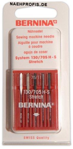 BERNINA Jersey Stretch Nadeln für Nähmaschine, Stärke 75/11