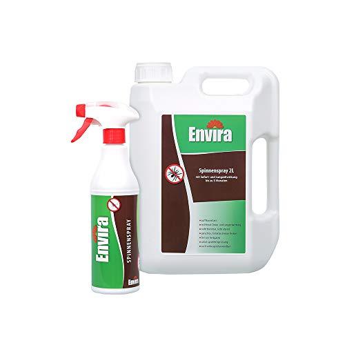 Envira Spinnen-Spray - Anti-Spinnen-Mittel Mit Langzeitwirkung - Geruchlos & Auf Wasserbasis - 500 ml + 2 Liter