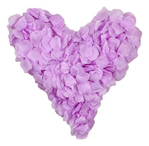 500 hell flieder farbene Rosenblätter, lila, violett, veilchen - Hochzeitsdeko, Valentinstag, Heiratsantrag, Streudeko, Liebe, Romantisch, Basteln - Valentinsgeschenk, künstliche Blütenblätter