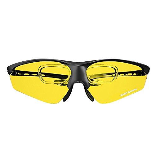 Mars Gaming MGL3 - Gafas protectoras para gaming (diseño deportivo y ligero,...