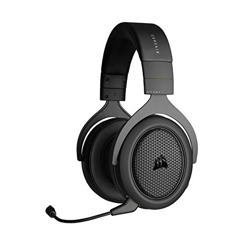Corsair HS70 Bluetooth - Wired Gaming Headset with Bluetooth - Works with PC, Mac, Xbox Series X, Xbox Series S, Xbox One, PS5, PS4, Nintendo Switch, iOS and Android - Carbon, Black