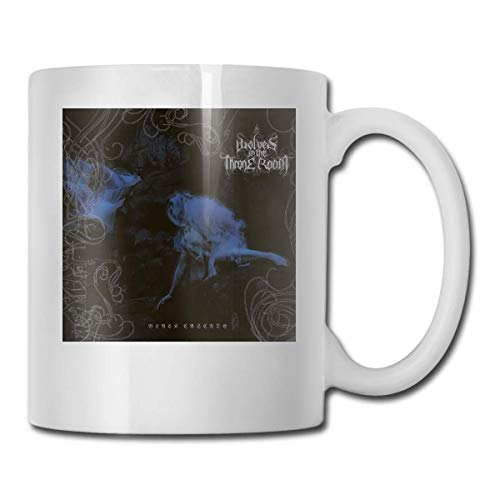 MQJJ Wolves In The Throne Room Alla moda Grande tazza unica Tazza da tè Tazza da caffè Per donna Papà Regali perfetti 11,6 Oz