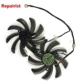 2pcs R7 370 HD7850 GPU Cooler Graphics Card Fan for GIGABYTE GV-R785WF2-2GD GV-R737WF2OC-4GD GV-R785OC-2GD Cooling