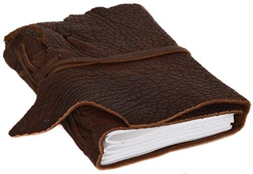 Buch Notizbuch Notizheft Tagebuch Adressbuch DIN A6 Braun Leder