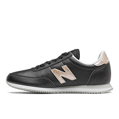 New Balance womens 720 V1 Sneaker, Black/Gold, 5 US