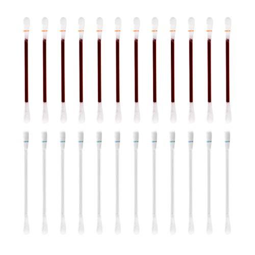 Supvox 100 Piezas de Alcohol Desechable Bastoncillos de Algodón Desinfectados con Yodo Cuidado de Emergencia Bastoncillos de Algodón Punta para Maquillaje Oreja