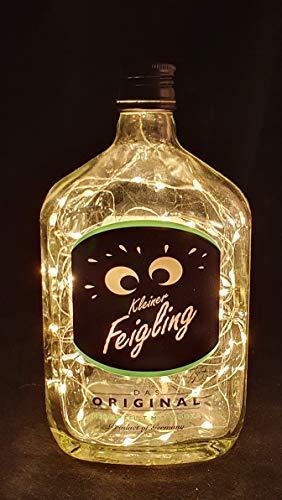 Kleiner Feigling Flaschenlampe Lampe mit 80 LEDs Warmweiß Upcycling Geschenk Idee