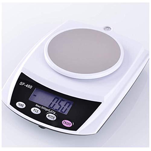 YGB Básculas electrónicas, horneado de Cocina para el hogar 0,1 g, balanzas pequeñas de té de Alta precisión, Medicina China, pesaje de Alimentos