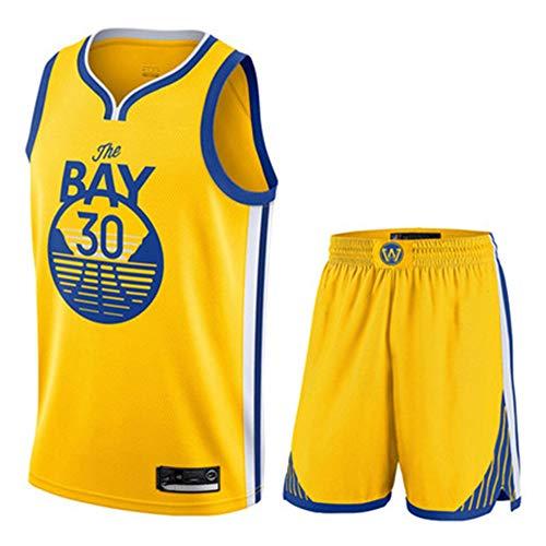 YDYL-LI Basketball Jersey/Uniform Sport Sets Krieger 30# Stephen Curry Fans Trikots Trainings Sweatshirts Für Männer Teens Boy Atmungsaktiv, Schnell Trocknend,L