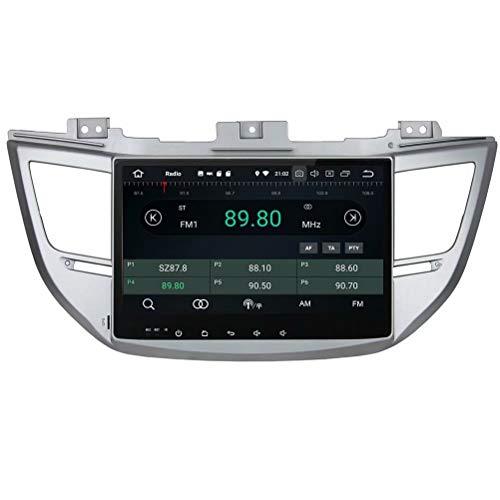 Radio Automatique ROADYAKO Double Din pour Hyundai IX35 / Tucson 2015 Android 8.0 avec Navigation GPS Lien WiFi Miroir RDS FM AM Bluetooth AUX Audio Vidéo