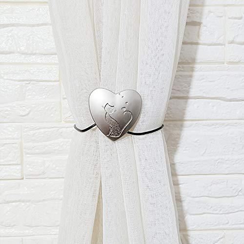 Wegji Moderne minimalistische metalen curtain magneet buckle riem Curtain Buckle Creative Hondenred-Free Punch-Free Curtain Clip