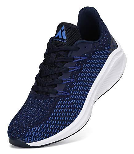 Mishansha Fitnessschuhe Herren Leichte Straßenlaufschuhe Männer Sport Joggingschuhe Blau 45