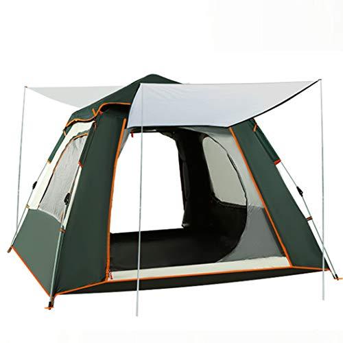 M STAR Tienda de campaña para acampar al aire libre de 5 ~ 8 personas, totalmente automática, doble capa, a prueba de lluvia, al aire libre, protector solar, 240 x 240 x 155 cm (5 ~ 8 personas)