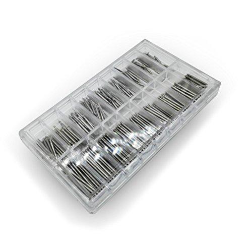 NICERIO Kit di Cinturino Orologiaio Strumento di Riparazione 360 Pezzi 6-23mm Molla Bar Perno per Orologio con 1 Strumento di Rimozione Cinturino Orologio