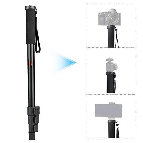 Topiky Inschuifbaar monopod, draagbare 3 kg selfie stick mount metalen stang met 1/4 tot 3/8 inch schroef voor spiegelreflexcamera, spiegelloze camera, flitser, mobiele telefoon, microfoon, LED-licht, P264A