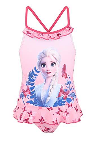 Disney Frozen 2 - Costume Intero 1 Pezzo Mare Piscina - Bambina - Prodotto Originale con Licenza Ufficiale [1873 Rosa - 8 A - 128 cm]