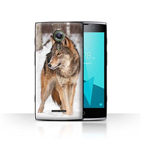 Hülle Für Alcatel Flash 2 Wilde Tiere Wolf Design Transparent Ultra Dünn Klar Hart Schutz Handyhülle Case