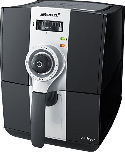 Steba HF 900 Heißluft-Fritteuse, 2,0 L Volumen bis zu 80% weniger Fett, 1500 W, schwarz/grau