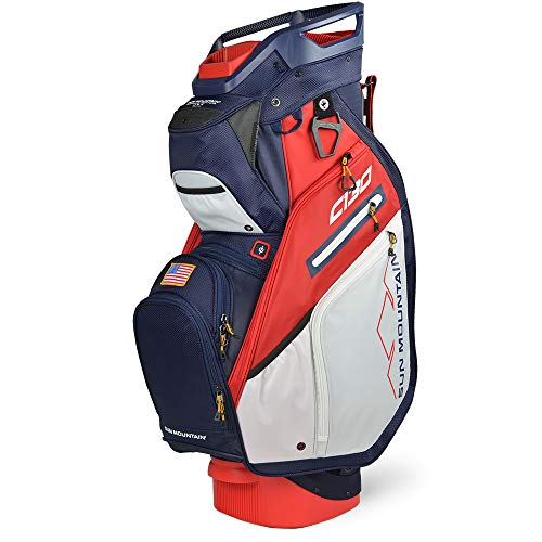 Sun Mountain C130 Cart Bag Golf Navy/White/Red USA 2020 New 14Way Divided