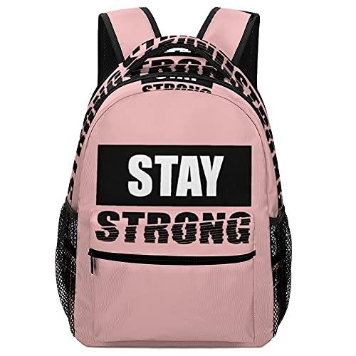 Mochila de tela Oxford para niños Home Town 77 Brooklyn mochila escolar para niñas, hombro ajustable impermeable, White-stay Strong5, Talla única, Mochila de tela Oxford...
