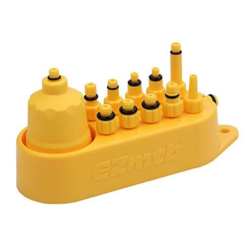 Zebery Kit de herramientas de purga de freno hidráulico de bicicleta para el sistema de freno de disco de la serie de la bici del